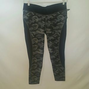 Soffe Black Camo 3/4 Leggings